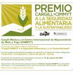 """Amplían convocatoria a la VI edición del """"Premio Cargill-CIMMYT a la Seguridad Alimentaria y la Sustentabilidad"""""""